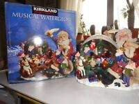 KIRKLAND SIGNATURE MUSICAL WATERGLOBE WITH CHRISTMAS SCENE