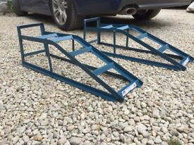 Pair of car ramps used once since new