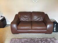 Violino, Italian leather 2 & 3 seater sofa for sale
