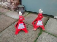 Sealey Axle Stands (Pair) 3tonne Capacity per Stand Ratchet Type