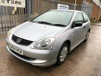 HONDA CIVIC 1.4 PETROL 3 DOOR 77K MILEAGE