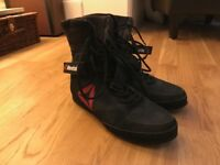 Size 8 Black Reebok 'Buck' high-ankled boxing boots