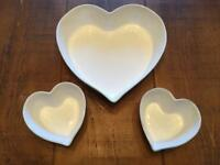 Heart shaped oven proof dishes