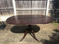 Stag Pedestal Extendable Dining Table - Mahogany