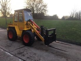 Kramer 4x4 rough terrain forklift, Diesel, hydraulic quick hitch
