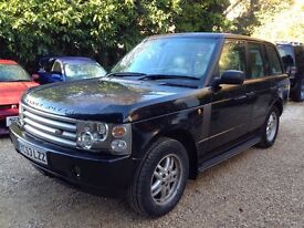 2004 LAND ROVER RANGE ROVER HSE TD6 AUTO BLACK 4x4 1 years mot bargain px to clear