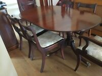 Dining Table, 6 Chairs , Table with drop leaf and matching sideboard unit for sale to good home