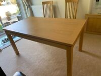 Beechwood dining table