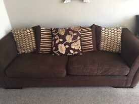 4 seater sofa and single chair