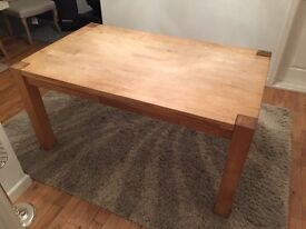 Solid Wood Dining Table -No chairs (Aston model from Homebase)