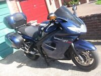 Triumph Sprint GT, 2011 with panniers, top box, ABS, heated grips, tall screen, end can and more