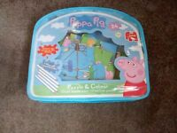 Peppa Pig Puzzle and Colour 24 piece jig saw