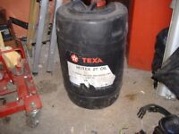 part used 25lt 2/stroke oil and 10lts engine oil
