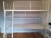 Ikea Svarta Loft Bed with Desk £65