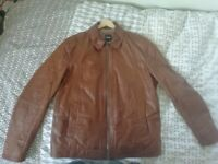 Hugo Boss Genuine Goatskin Leather Jacket 'Garrin 1' UK 44 Regular (IMMACULATE)