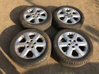 "Vauxhall Astra / vectra / Zafira 16"" alloy wheels - good tyres"