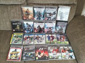 PS3 +19 games with accessories