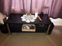 Black wooden coffee table REDUCED
