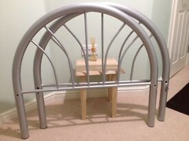 Aluminium Single Bed Frame with FREE new mattress in very good condition
