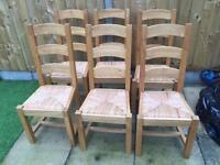 Set of 6 oak chairs