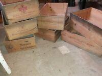 7 Wine boxes original and vintage