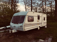 18ft caravan with burner fitted