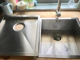 Cooke and Lewis stainless steel Sink and drainer