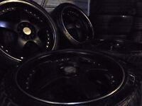 18inch LENZO deep dish ALLOY wheels 5x100/112 multifit bora seat leon audi vw golf t3 a3 caddy t4 tt