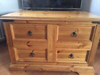 Solid pine next tv unit