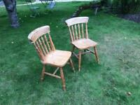 2 lovely pine chairs