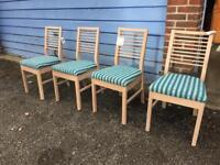Set of 4 oak chairs BRAND NEW!