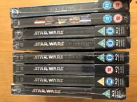 Limited Edition Complete Star Wars Movies Blu Ray Steelbook Collection - UK Release & SEALED