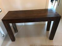 Brown Wooden Hall Table For Sale - Good Condition