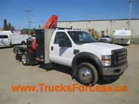 2009 Ford F-450 4X4, PICKER, SERVICE DECK!!!