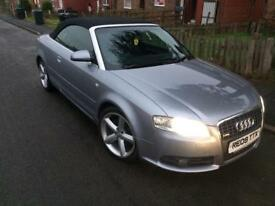 2009/09 AUDI A4 S LINE CABRIOLET/MOTED/MINT CONDITIONED/DRIVES LIKE NEW/FULL MOT/CAT D