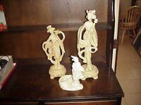 Three Japanese statues