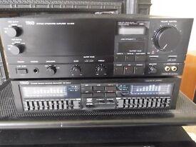 High-power Trio-Kenwood KA-949 amplifier plus GE900W dual graphic equalizer