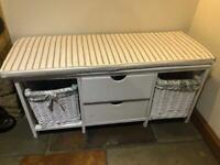 Hallway bench seat / shoe bench / shoe storage