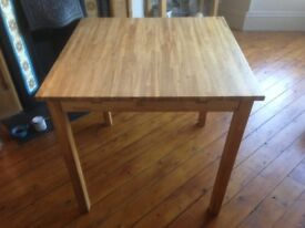 Solid Oak Dining Table 80cm X 80cm