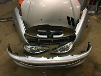2006 Peugeot 206 full front end in silver