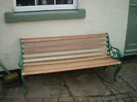 Victorian Cast Iron decorative upcycled bench