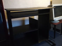 Black computer desk - good condition