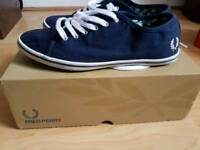 Women's Navy Fred Perry shoes UK6 UK5