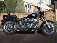 2015 Harley Davidson Fatboy FLSTFB Special Edition, V&H Short Shots, 435 miles