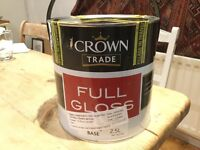 High gloss parsonage cream paint 2.5l