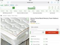BRAND NEW Dorma Tencil Blend Memory Foam Mattress Topper for a 5' Bedthis Dorma