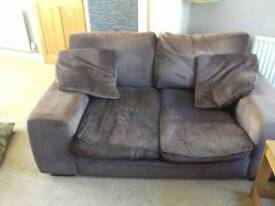 Chocolate brown 2 and 3 seater sofas