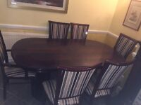6 Set Dining Table with Chairs FREE CABINATE
