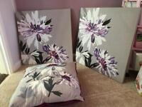 Next canvas set and cushions