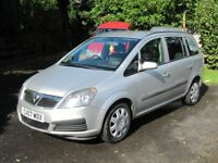 VERY LOW MILEAGE 2007 ZAFIRA 7-SEATER MPV, STUNNING, 50 MPG, SH, LONG MOT, PART-EXCHANGE WELCOME
